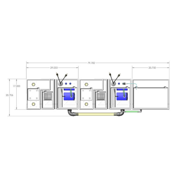 4800GPH Media-Max Small Seamless Sump® Package - Refugium - Diagram Top
