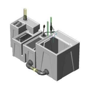 1200GPH Mini Low Profile Seamless Sump® Package