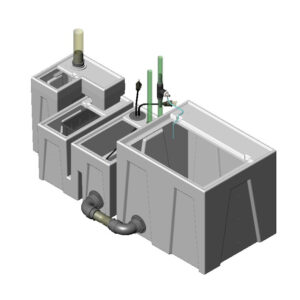 1200GPH Small Low Profile Seamless Sump® Package