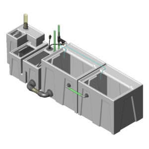 1200GPH Large Low Profile Seamless Sump® Package